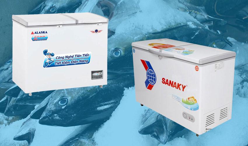 Nên mua tủ đông Alaska hay Sanaky